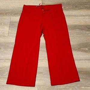 Lululemon Red Wide Leg Crops